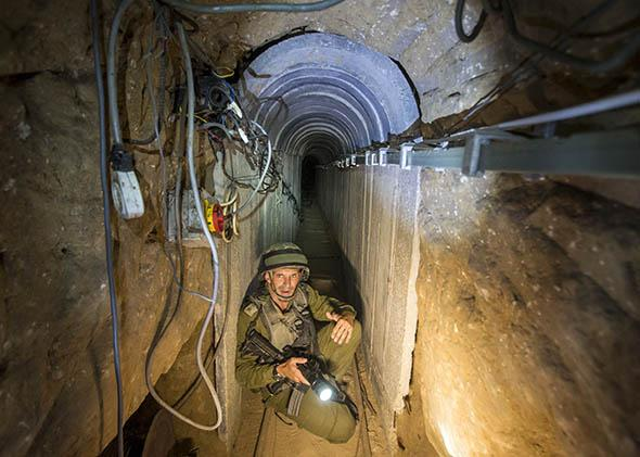 tunnel said to be used by Palestinian militants from the Gaza Strip.