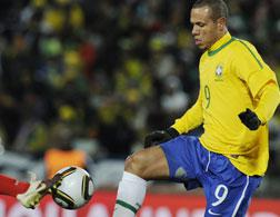 Brazil's striker Luis Fabiano. Click image to expand.