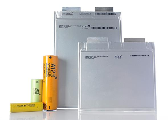 A123 Systems battery cell products