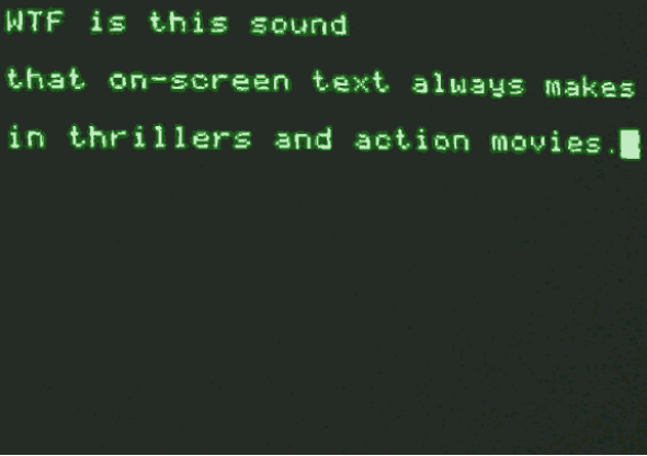 """The movies' favorite typing sound: """"Telemetry"""" and """"teletype"""