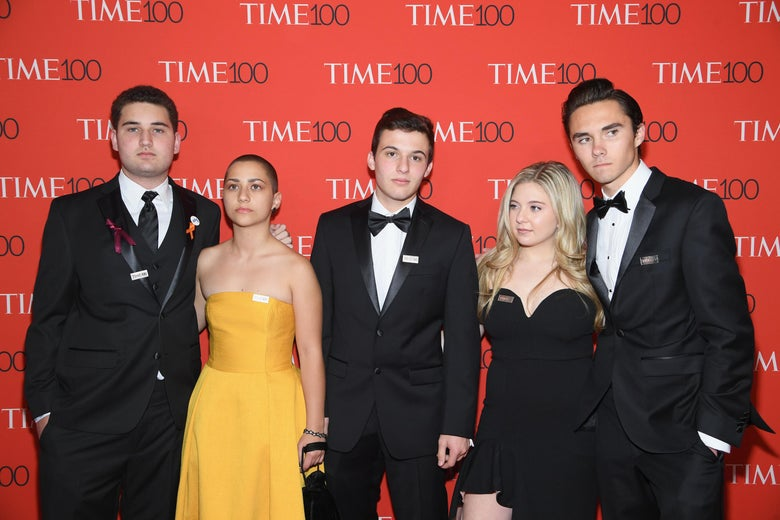 Parkland student activists at the 2018 Time 100 Gala.