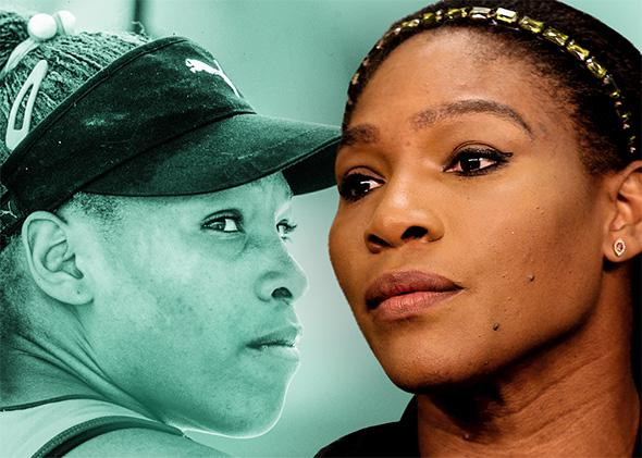 Serena Williams at Indian Wells in 2001 and 2015.