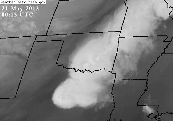 GOES view of the Oklahoma storm