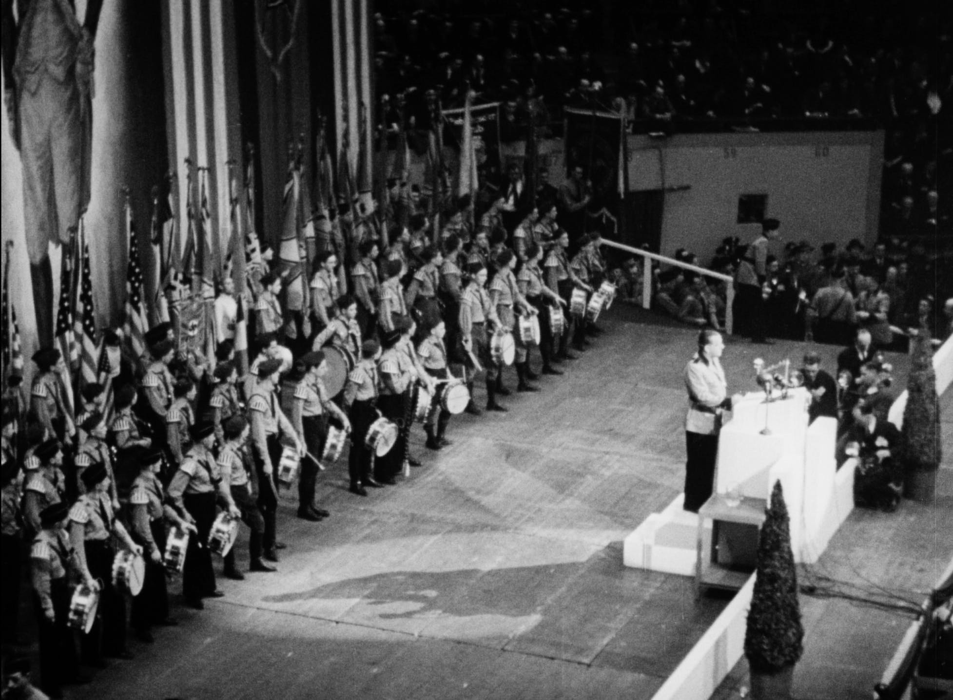American Nazis gather at a rally at Madison Square Garden in 1939.