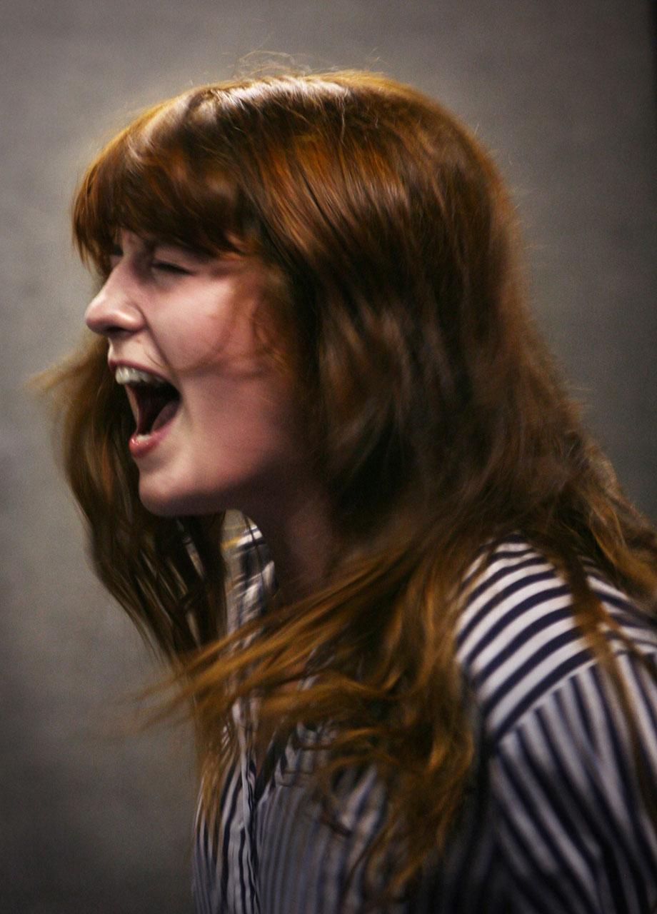 Florence & the Machine, 2007, JILL FURMANOVSKY Florence Welsh rehearsing at John Henry's in London, 2007.