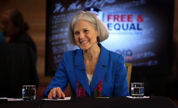 Green Party presidential candidate Jill Stein might siphon some votes from Obama if people voted purely on the issues.