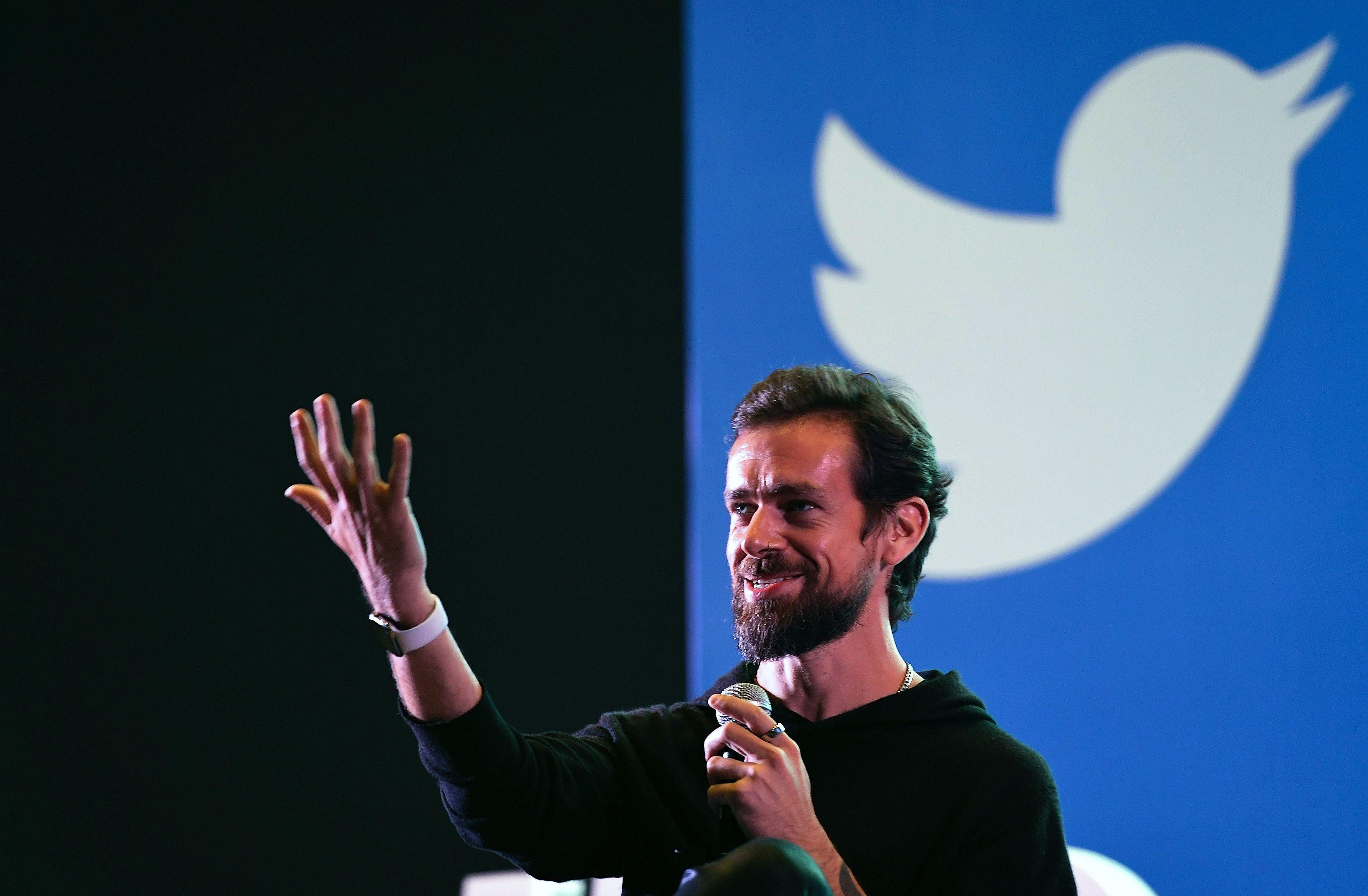 Twitter CEO Jack Dorsey during a town hall meeting with college students in New Delhi on Nov. 12, 2018.