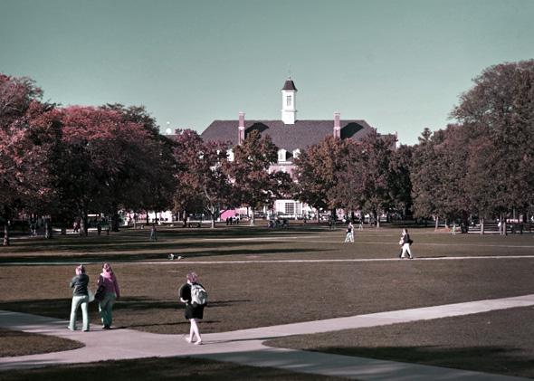Fall day on the quad.