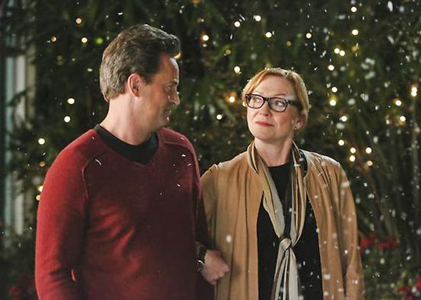 "Matthew Perry and Julie White in NBC's ""Go On"""