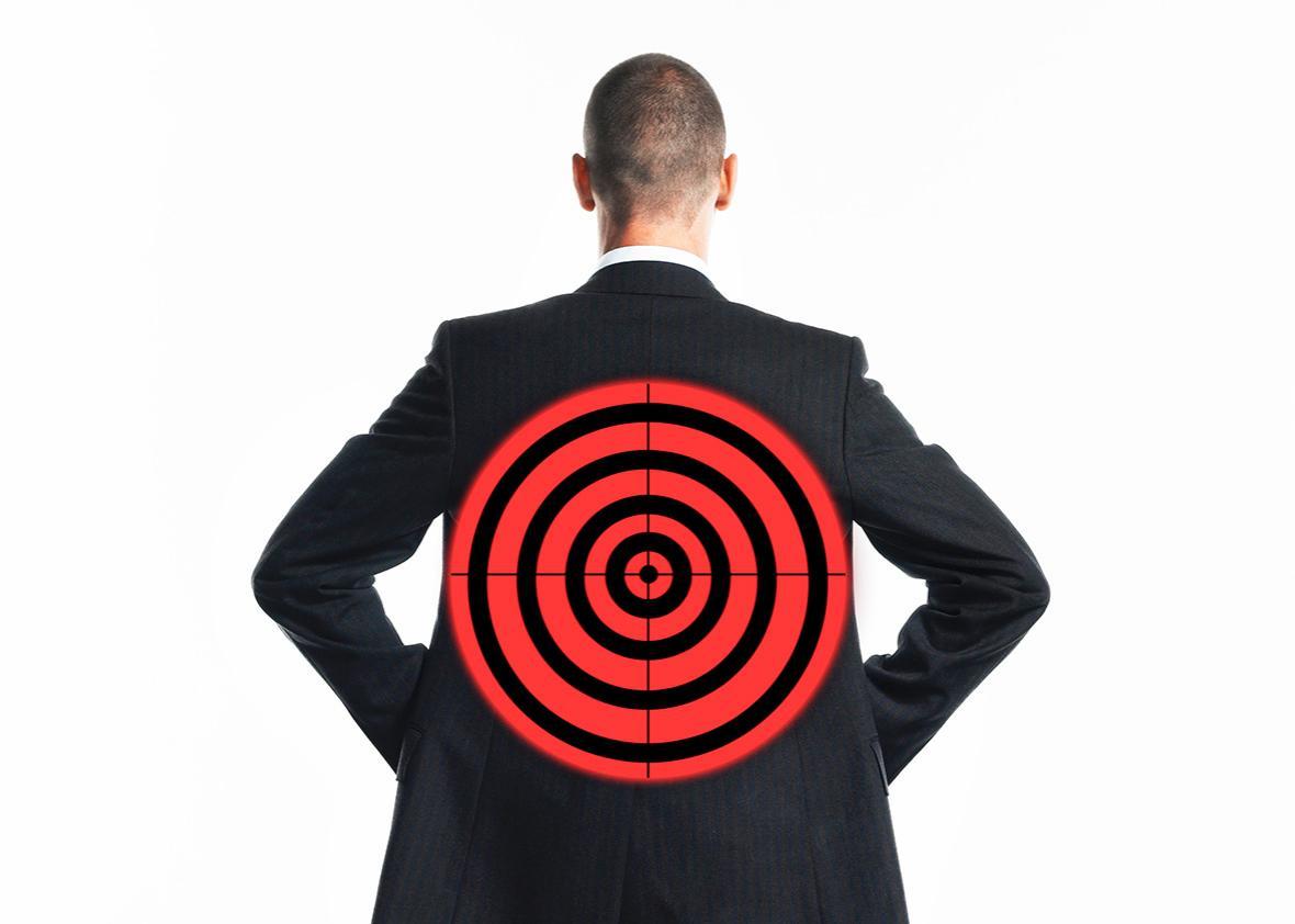 target on back.