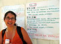 Martina Sproll, a German trade union organizer, who is coordinating meetings between German and Brazilian union officials
