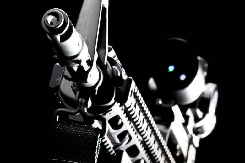 An AR-15 muzzle.
