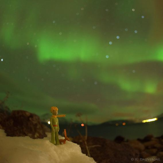The Little Prince and the aurora