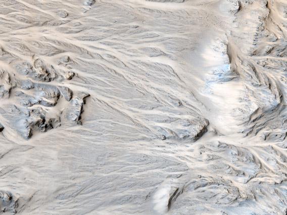alluvial fan on Mars