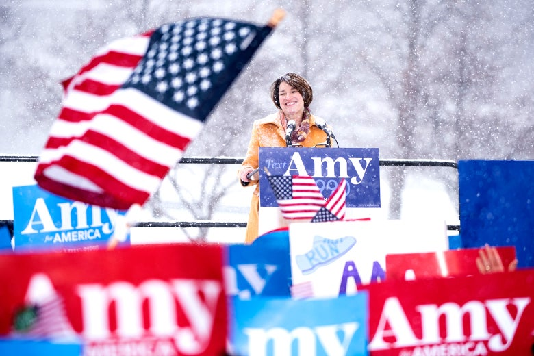Sen. Amy Klobuchar announces her 2020 presidential bid.