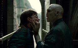 """Daniel Radcliffe as Harry Potter and Ralph Fiennes as Lord Voldemort in """"HARRY POTTER AND THE DEATHLY HALLOWS - PART 2."""" Click image to expand."""