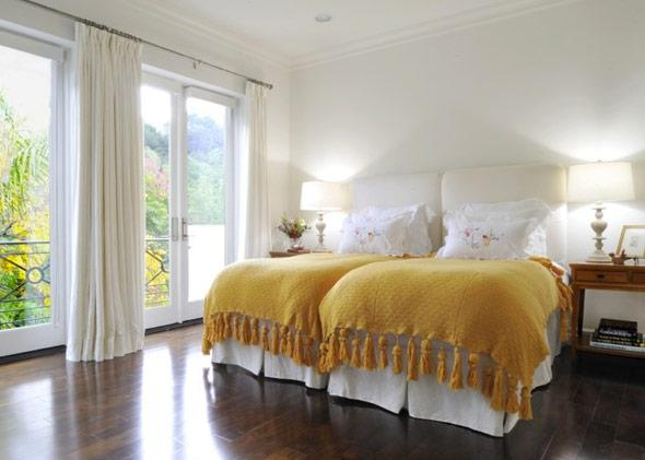 Two twin beds side by side.