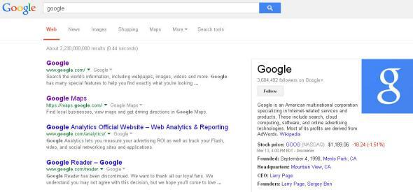 Google search results font, display change: How to change it