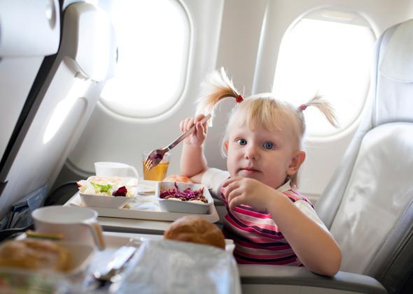 kid on a plane.