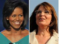 Michelle Obama and Sarah Palin. Click image to expand.