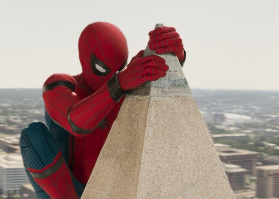 Image result for spiderman homecoming washington monument