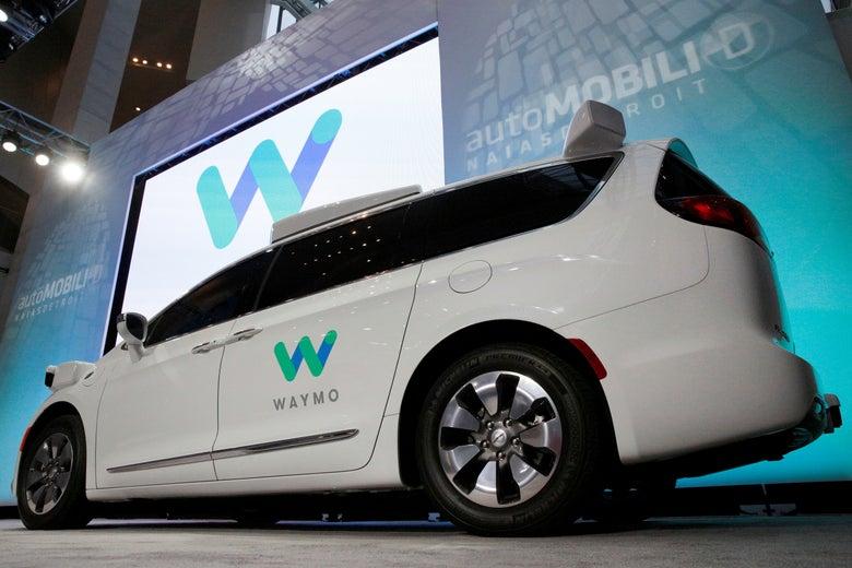 Uber's self-driving Waymo minivan.