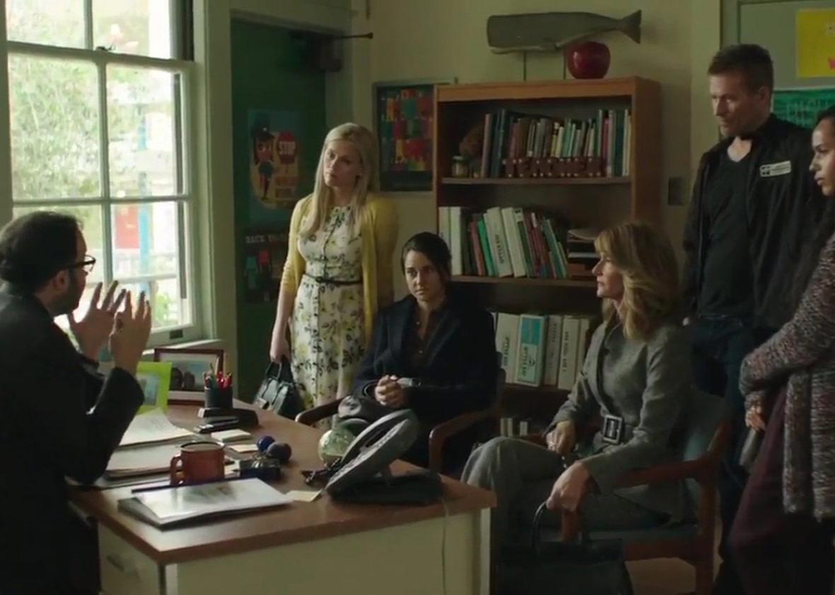 Laura Dern, Reese Witherspoon, P.J. Byrne, James Tupper, Shailene Woodley, and Zoë Kravitz in Big Little Lies (2017)