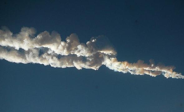 meteor vapor trail