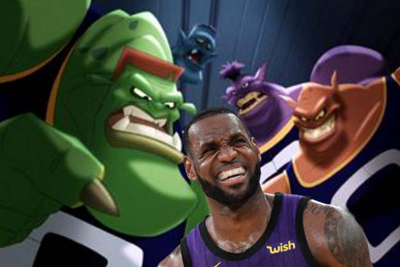 LeBron James and Space Jam's Monstars