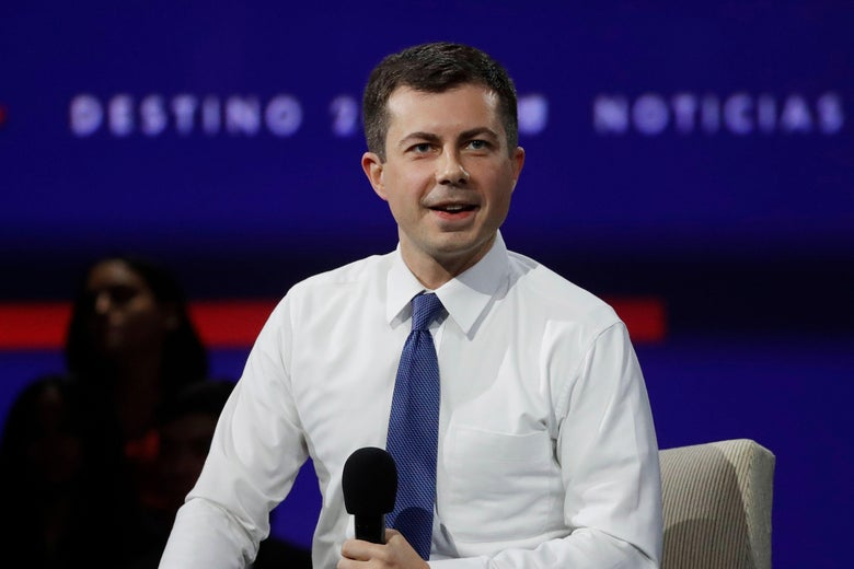 Democratic presidential hopeful, Mayor of South Bend, Indiana, Pete Buttigieg speaks at the California Democratic Party 2019 Fall Endorsing Convention in Long Beach, California on November 16, 2019.