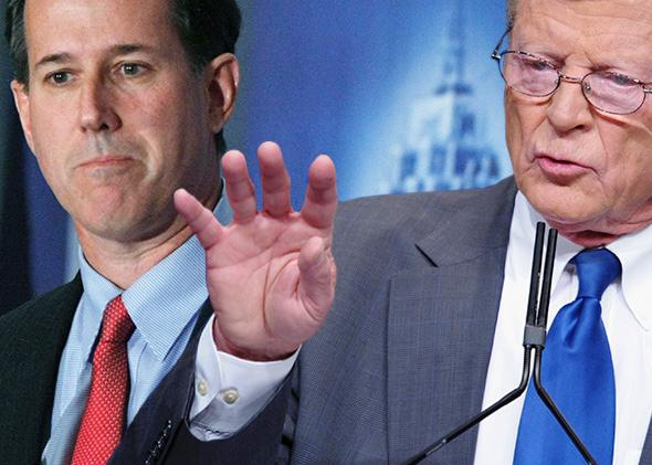 Rick Santorum, James Inhofe
