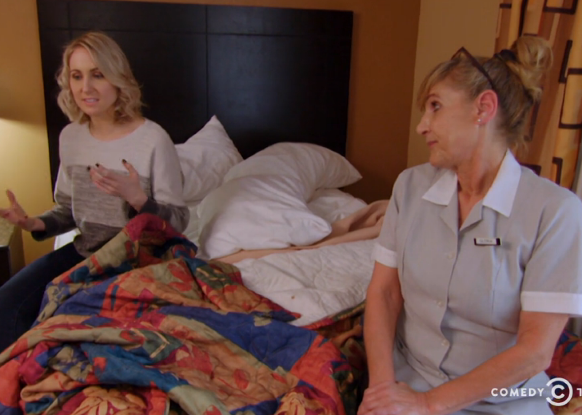 Watch Hotel Cleaning Staff Tell Nikki Glaser Their Grossest, Most Hilarious Horror Stories