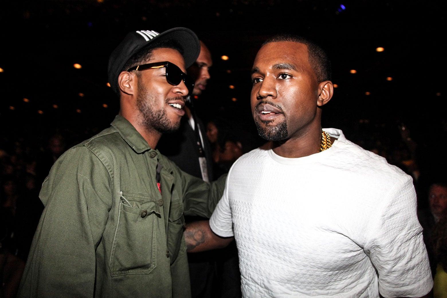 Kid Cudi and Kanye West.
