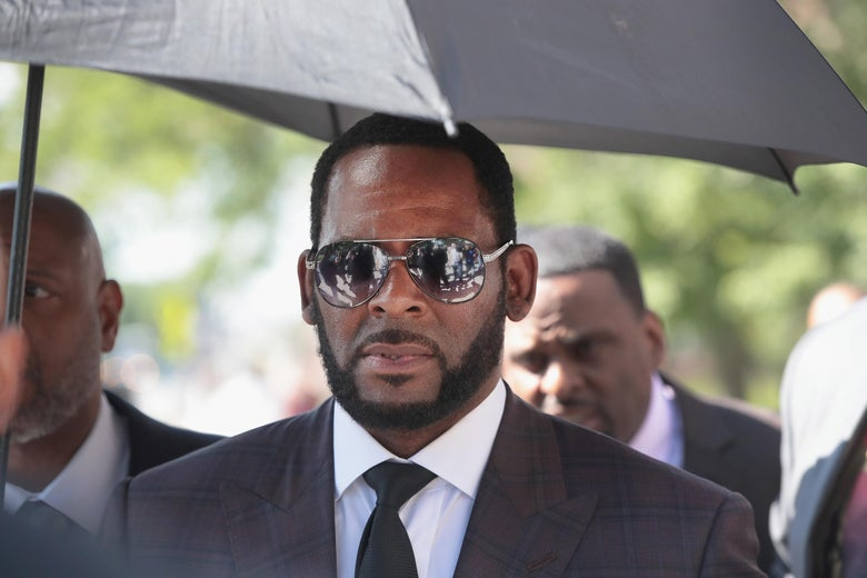 Singer R. Kelly following a hearing on June 26, 2019 in Chicago, Illinois.