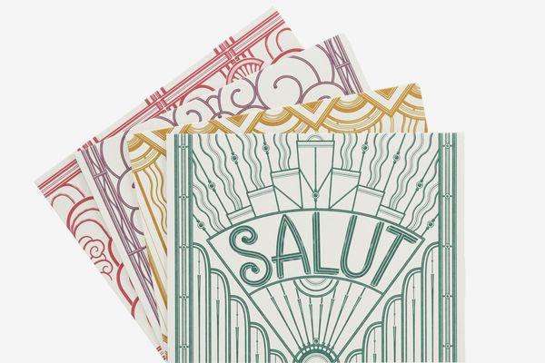 Quatre Mots Français Note Cards by Louise Fili