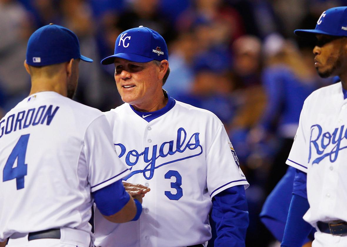 Manager Ned Yost #3 of the Kansas City Royals.