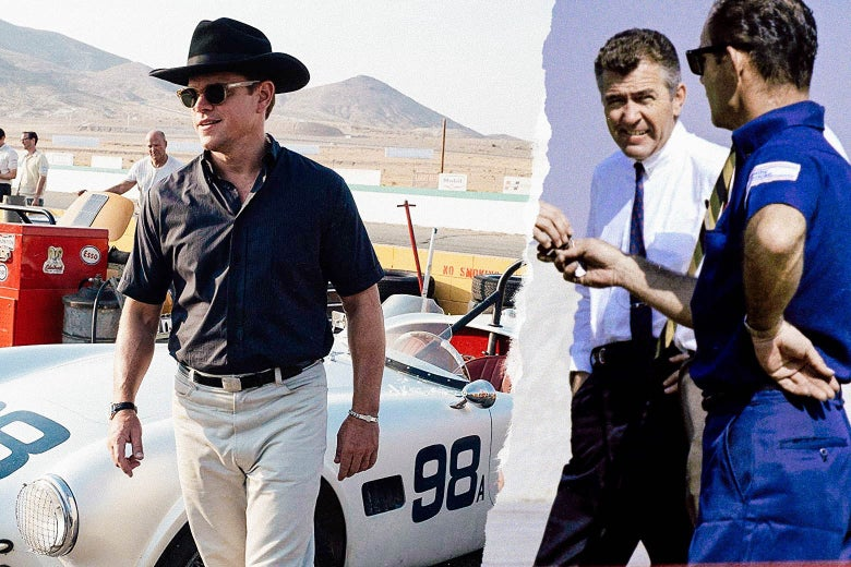 Matt Damon and Carroll Shelby