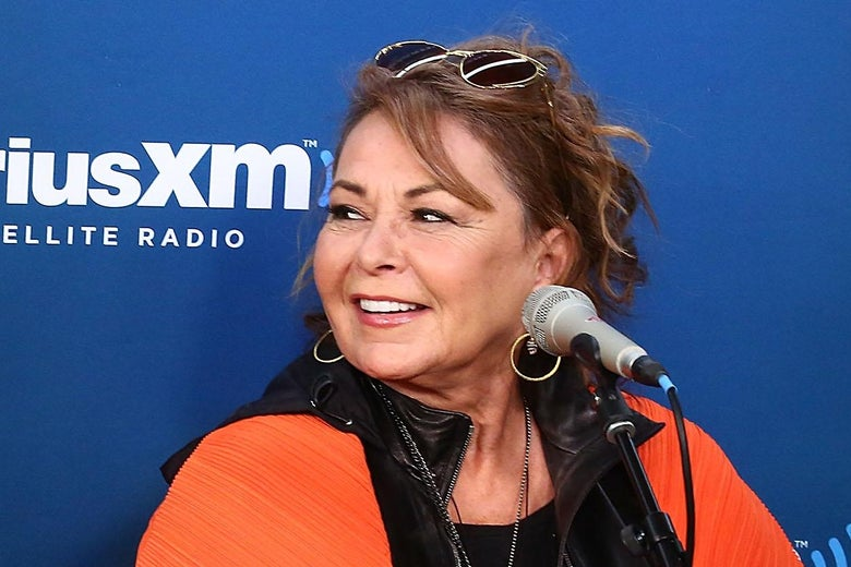 NEW YORK, NY - MARCH 27:  Roseanne Barr speaks during SiriusXM's Town Hall with the cast of Roseanne on March 27, 2018 in New York City.