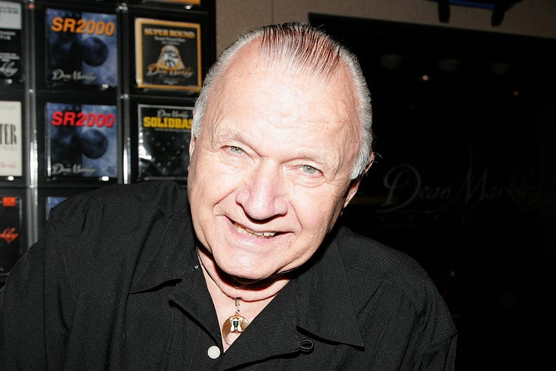 Guitarist Dick Dale, smiling.