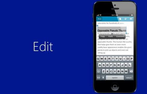 Microsoft Office for iPhone screenshot