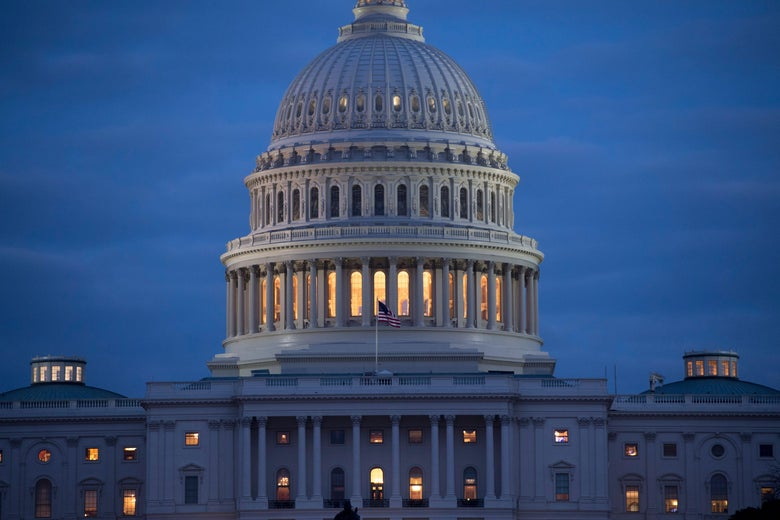 The Capitol Building at dusk