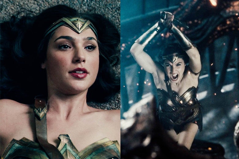 Wonder Woman from Whedon's version and from Snyder's version.