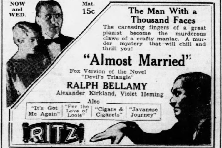 An ad for Almost Married.