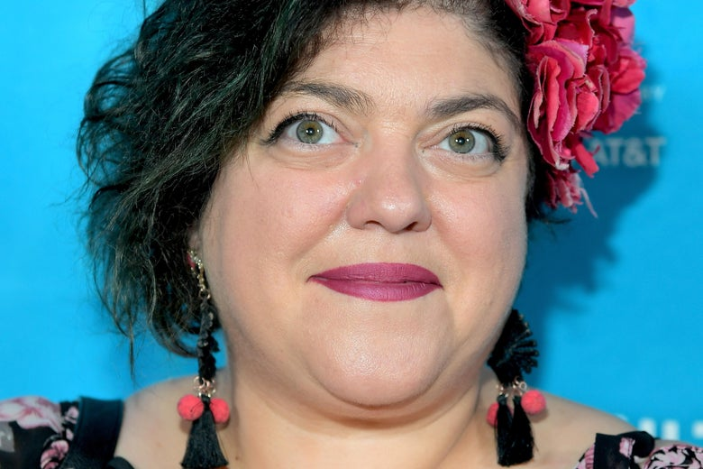 HOLLYWOOD, CA - NOVEMBER 18:  Writer Randa Jarrar attends the 'Feminist AF' panel, part of Vulture Festival LA Presented by AT&T at Hollywood Roosevelt Hotel on November 18, 2017 in Hollywood, California.  (Photo by Charley Gallay/Getty Images for Vulture Festival)