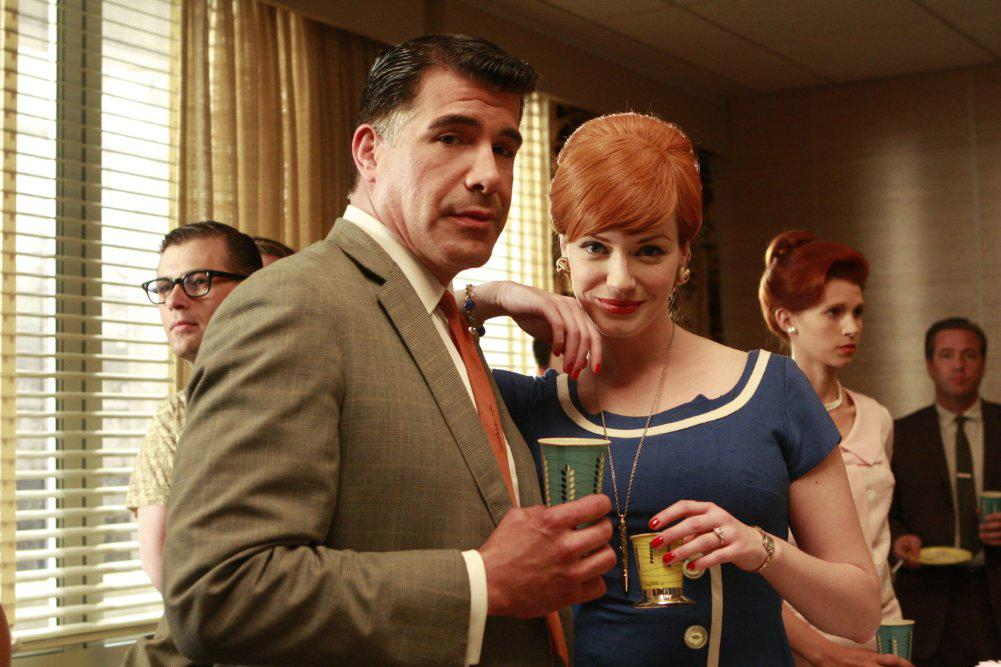 Sal and Joan in Mad Men