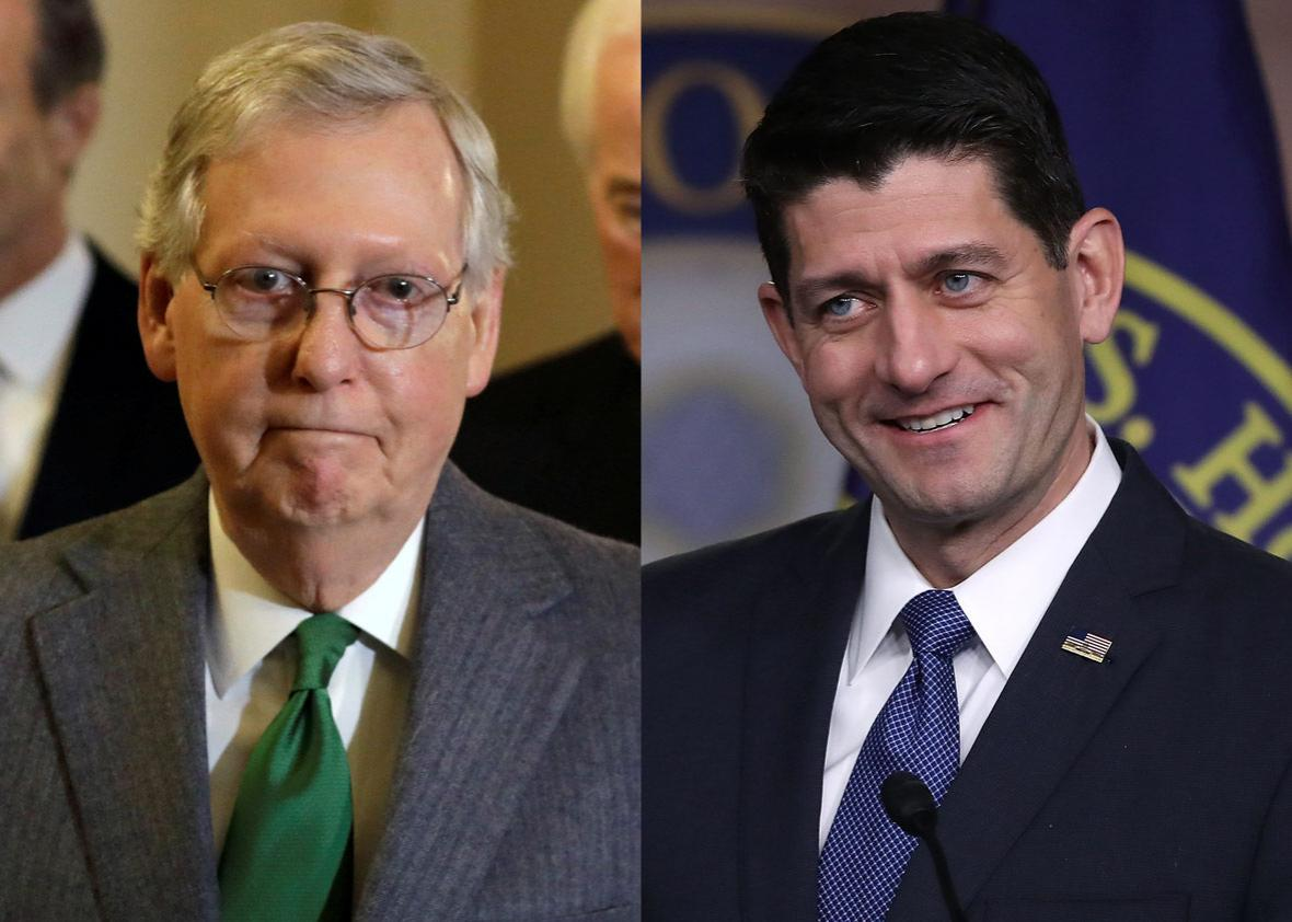 Senate Majority Leader Mitch McConnell and House Speaker Paul Ryan