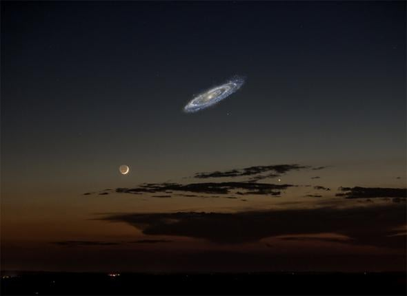 Moon and Andromeda