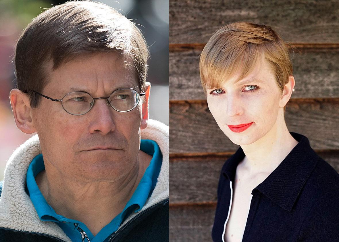 Michael Morell, former director of the Central Intelligence Agency, July 6, 2016 in Sun Valley, Idaho. Chelsea Manning is pictured in May 2017.