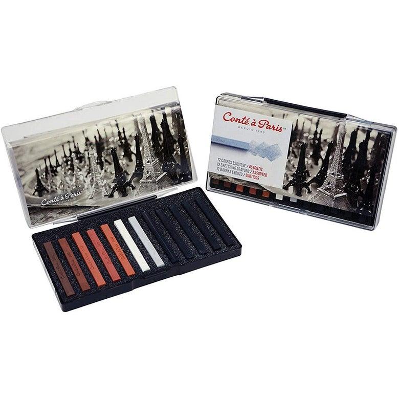 Set of sketching crayons