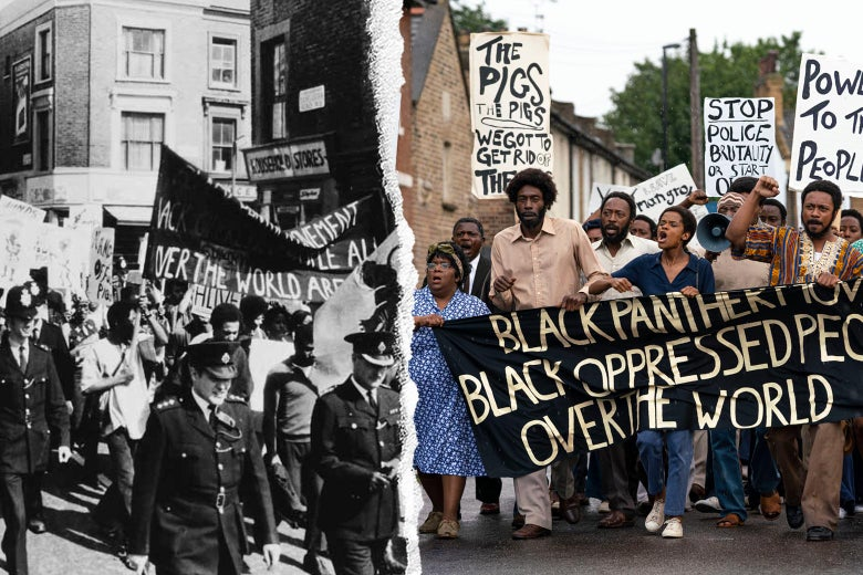 The protest on Aug. 9, 1970, and as depicted in the film.